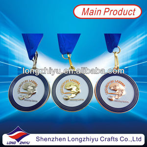 gold plating engraved metal prize medals/souvenir token coins