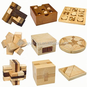Intelligence 2 colors 3D brain teaser wooden puzzle funny cube iq game iq toy 9 designs IQ wooden puzzle for adult