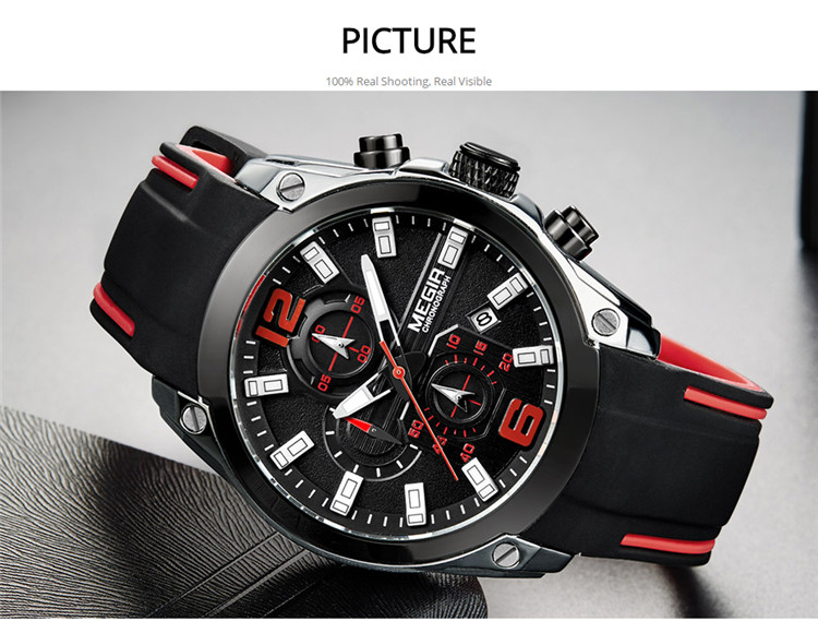 Megir 2063 Sport Mens Watches Top Brand Luxury QUARTZ Jam Tangan Pria Megir Marca De Relojes