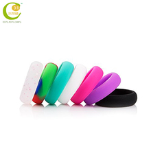 Factory Cheap Price Custom Design Embossed Logo Wedding Silicone Rubber Finger Ring With Any Colors