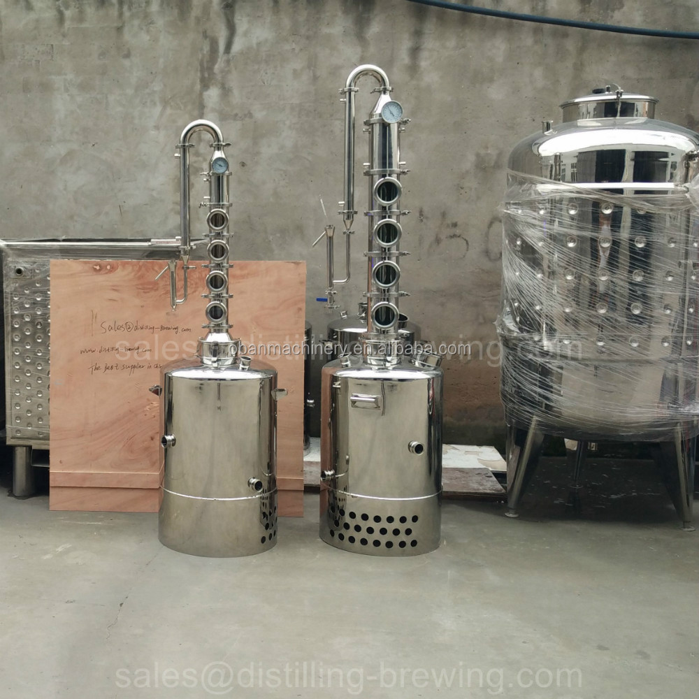 CE approved 50l home electric reflux alcohol distiller for sale 50L / 100L between 6 to 20 sets
