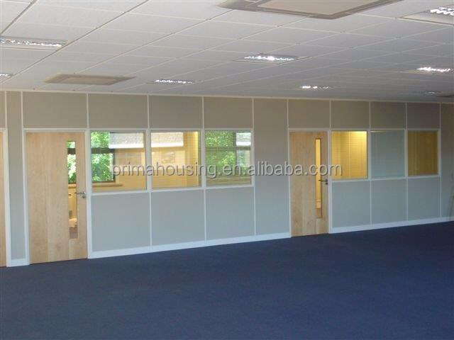 Ontdek de fabrikant verwijderbare kantoor partitie glazen wand van