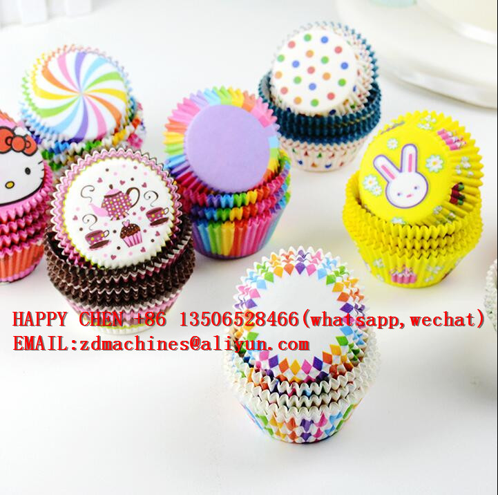 Full Automatic Type Curling Baking Cup Muffin Cupcakes Paper Cases