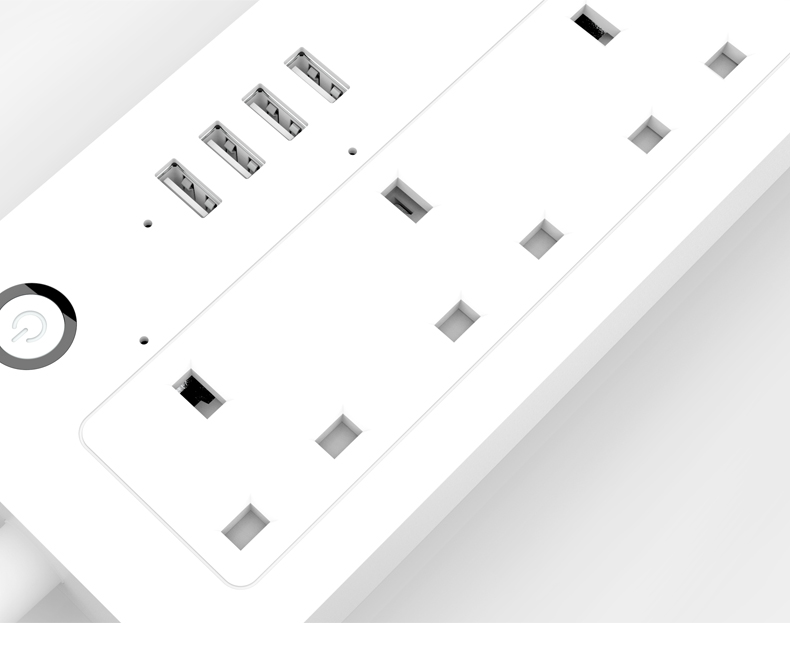 New wifi smart timer AC USB charger power strip socket multi-plug 스 outlet 앱 알렉사 Echo Google IFTTT UK Tuya