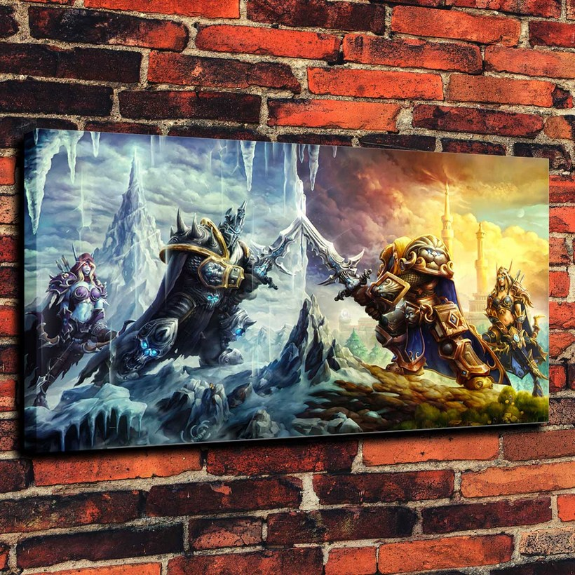 Canvas Prints Wall Art Decorative Painting Western Home Decor Which Sylvanas Arthas( No Framed )