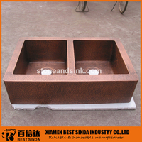 High quality apron copper sink for kitchen
