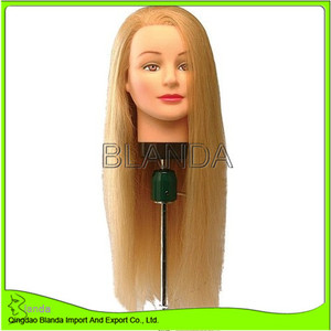 "18''-24"" Hairdressing 100% Human Hair Cutting Styling Training Practice Head"