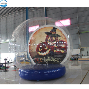 Christmas Outdoor Decorations Giant Snow Globe Bubble Tent, Inflatable Human Size Snow Globe For Sale