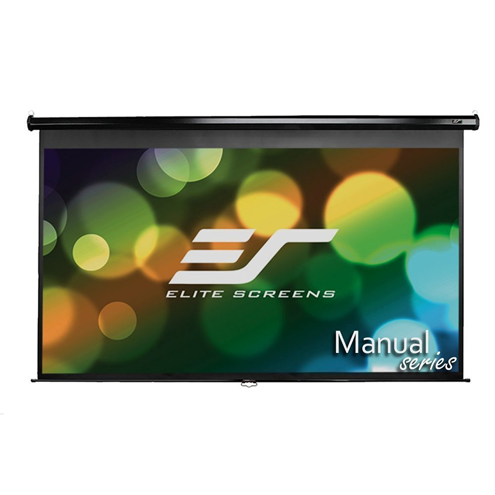 Elite Screens Manual Series, 142-INCH 16:9, Pull Down Manual Projector Screen with AUTO LOCK, Movie Home Theater 8K/4K Ultra HD 3D Ready, 2-YEAR WARRANTY, M142UWH2