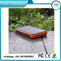 Promotional newest fashion laptop solar charger 15000mah for emergency charging battery