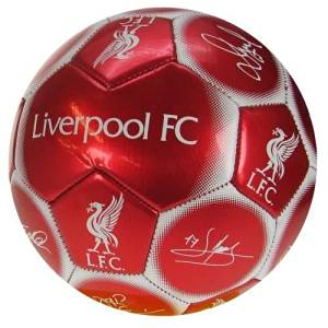 Liverpool F.C. Football Signature - Official licensed football club soccer ball