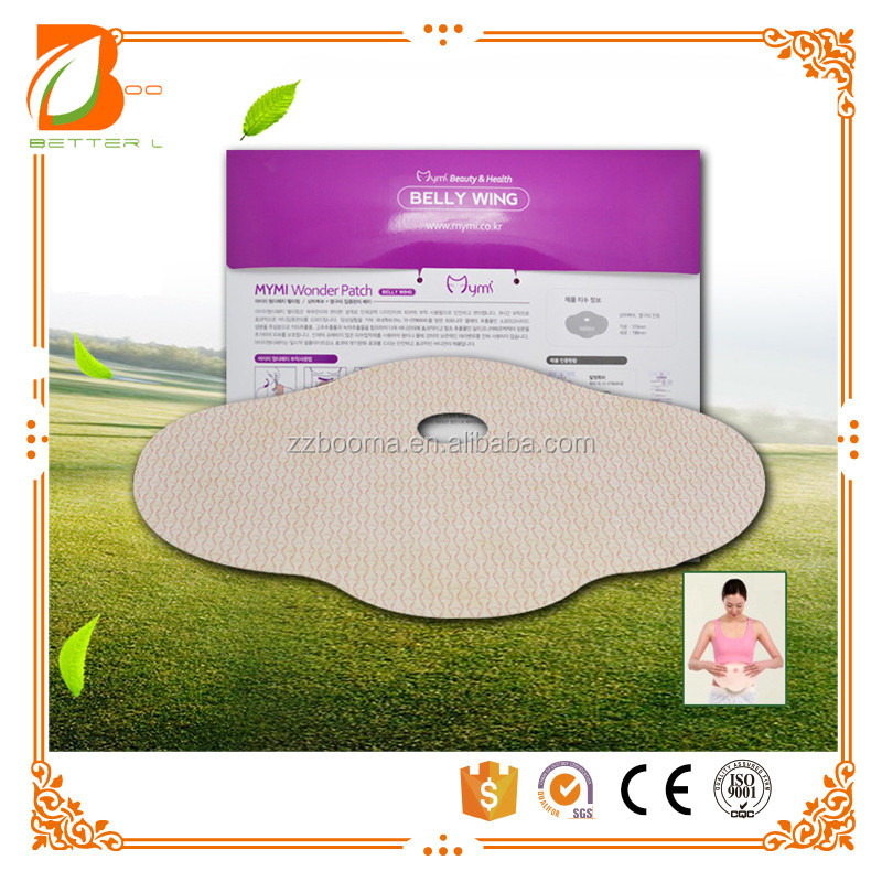 OEM MYMI wonder slimming patch belly abdomen weight loss fat burning slim patch 100% natural ingredients