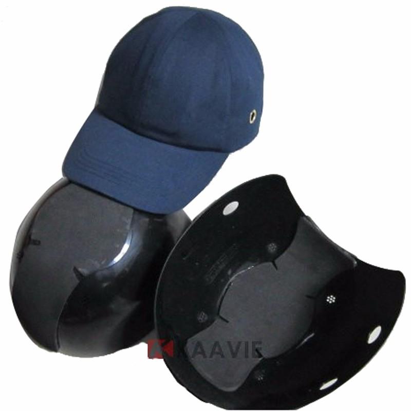 baseball hat style motorcycle helmet cap under insert safety bump