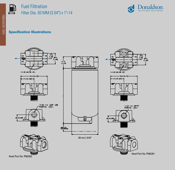 fuel filter donaldson p550105
