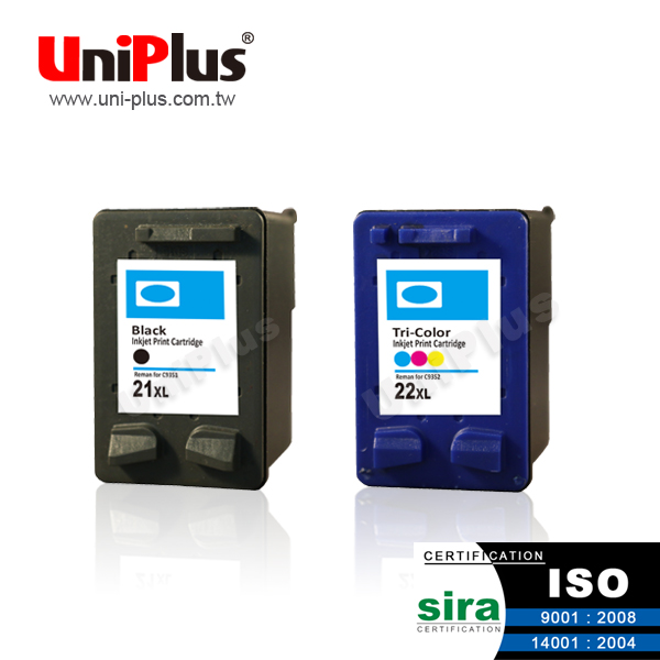 Compatible inkjet cartridge for hp 21 22 xl C9351an C9352 ink cartridge made in china