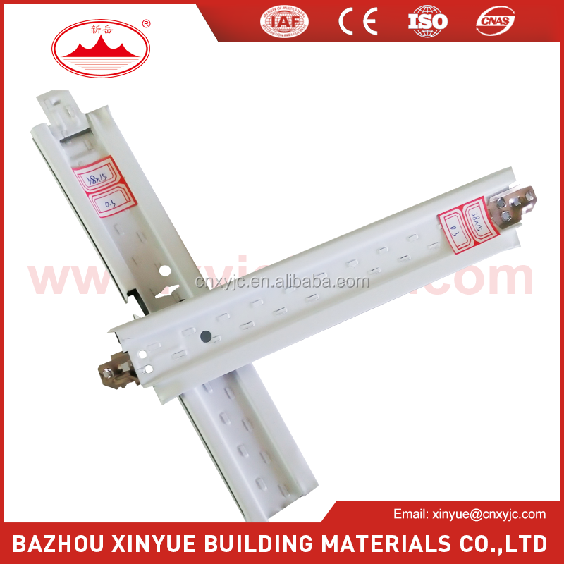 building materials ceiling suspended groove T grid