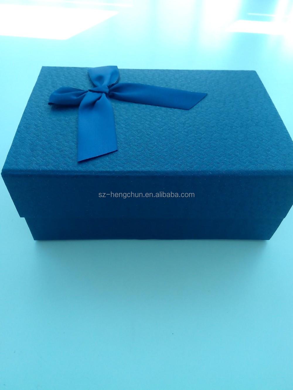 Beautiful Fancy Paper Folding Flat Gift Box With Ribbon,Christmas ...