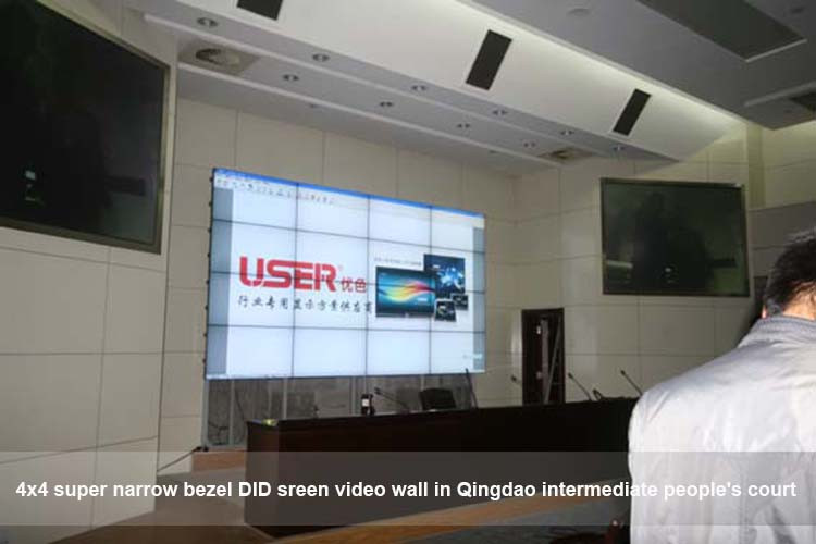55 Inch 5.3mm bezel 3x3 lg video wall with ultra narrow bezel original lg tv lcd display panel