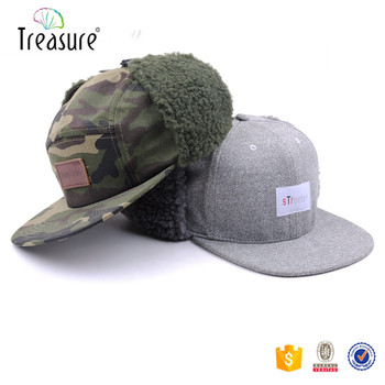 Custom Cotton Hat With Ear Flaps  Ear Flaps Flat Brim Cap - Buy ... e2e209bfb05