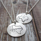Hurricane Harvey Relief Texas State Necklace - Home Is Where Your Heart Is Jewelry Collection
