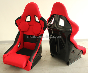 Racing Universal Fully Reclinable Racing Seat With Red Stitch (Black/Right)