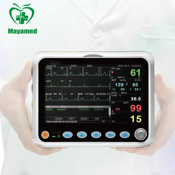 High resolution color TFT 5-channel waveform display Multi-parameter Patient Monitor