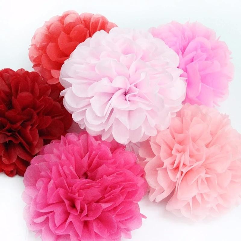 Bunte Hochzeit Papier Pompons Papier Ball Papier Blumen Buy