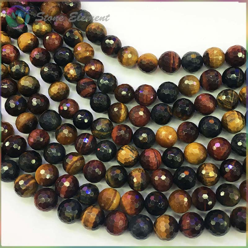 Natural Mixed Color Red,Yellow Blue Tiger Eye Stone Loose