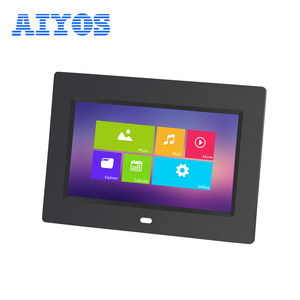 HD Advertising Display Level A Grade Full View Angle Screen Video Photo Playback Remote Control 7'' Digital Photo Frame