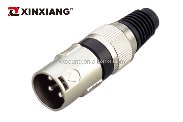 Mic cable connector cannon female jack male 3pin xlr connector