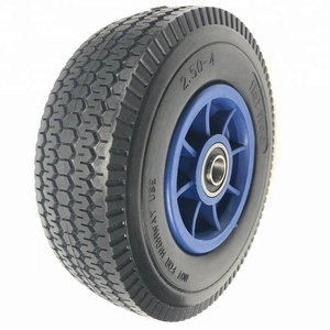 8 inch 2504 flat free foam filled tire with plastic rim