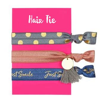 Custom Hair ties No Damage FOE Elastic Hair Band with Tassel Charm Girls  Bracelet Ponytail Holder c39ce08c0cd
