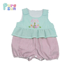 Wholesale newborn easter baby clothes for baby girl boutique bubble romper