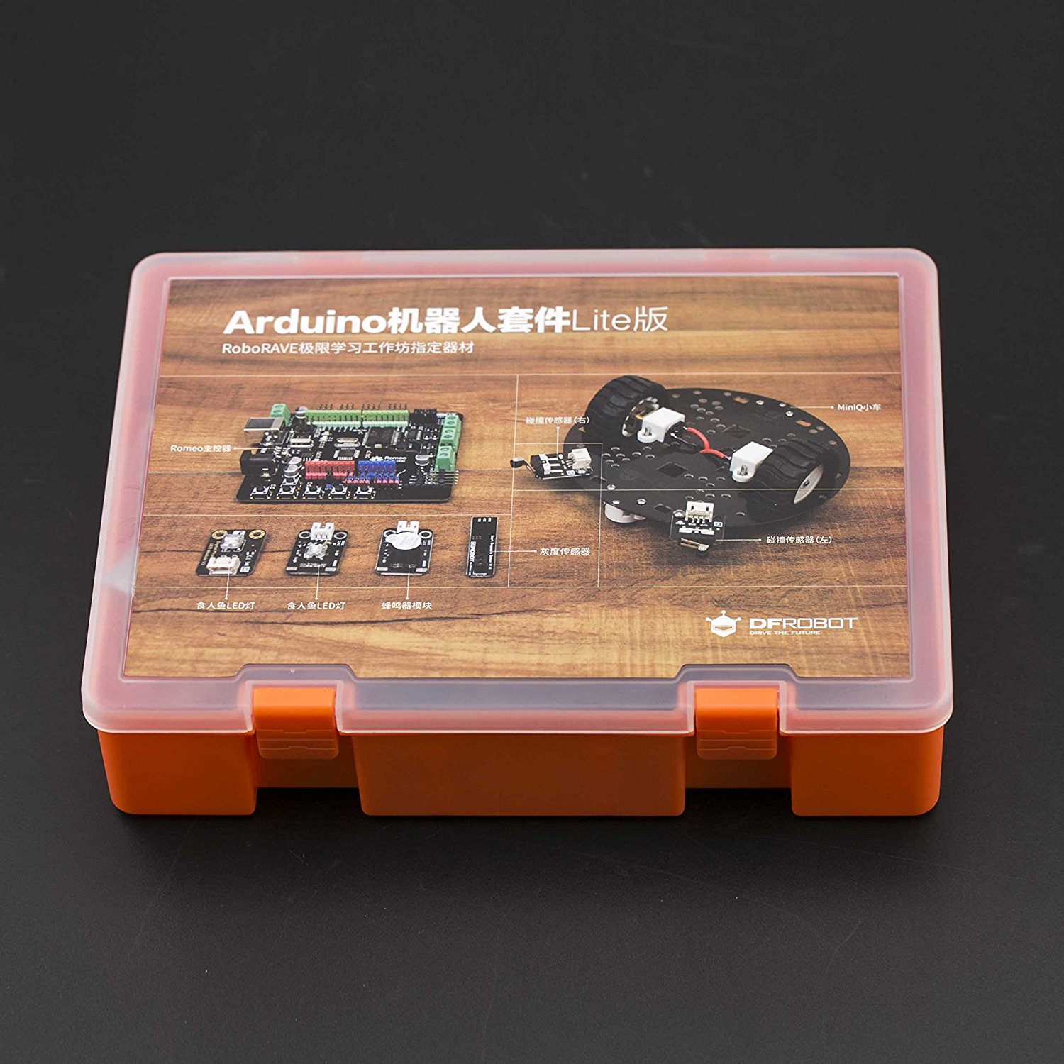 Angelelec DIY Open Sources Robot Kit, Arduino Robot Kit Lite Edition, Contains Robot Platform, Controllers, Sensors, A Variety of Spare Parts, SO That Students Can Quickly Build an Interactive Robot.