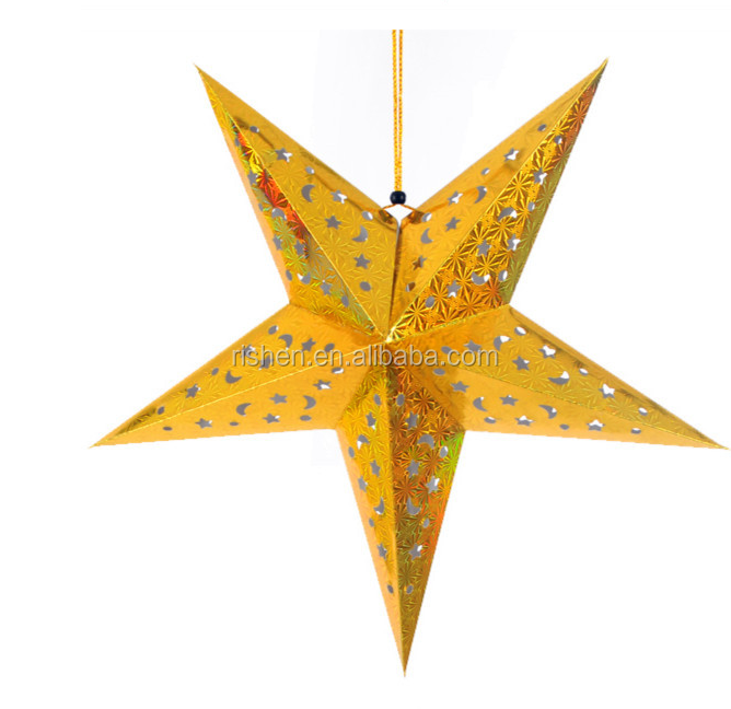 Christmas decorations handmade origami paper star ornaments