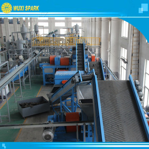 2 years warranty recycled tires rubber powder products production line Car / truck / motor tire recycling line