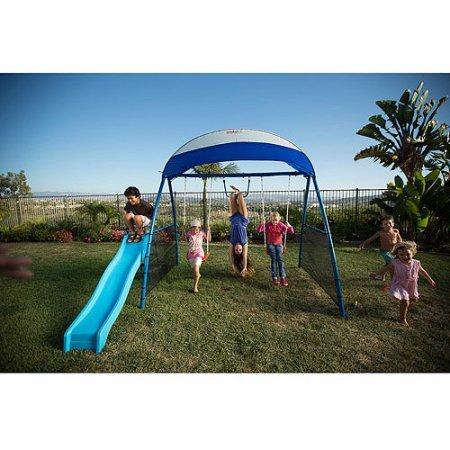 IRONKIDS Inspiration 150 Refreshing Mist Swing Set with UV Protective Sunshade