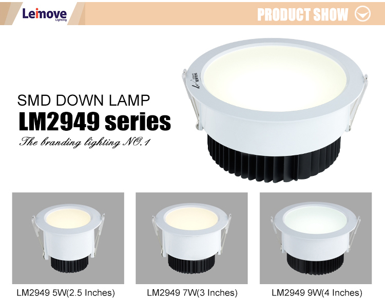 Leimove ceiling decoration adjustable led downlights white milky for wholesale-4