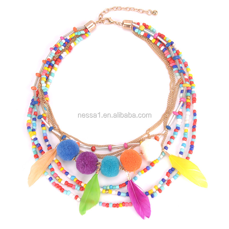 Fashion bead necklace fashion jewelry wholesales CD-004