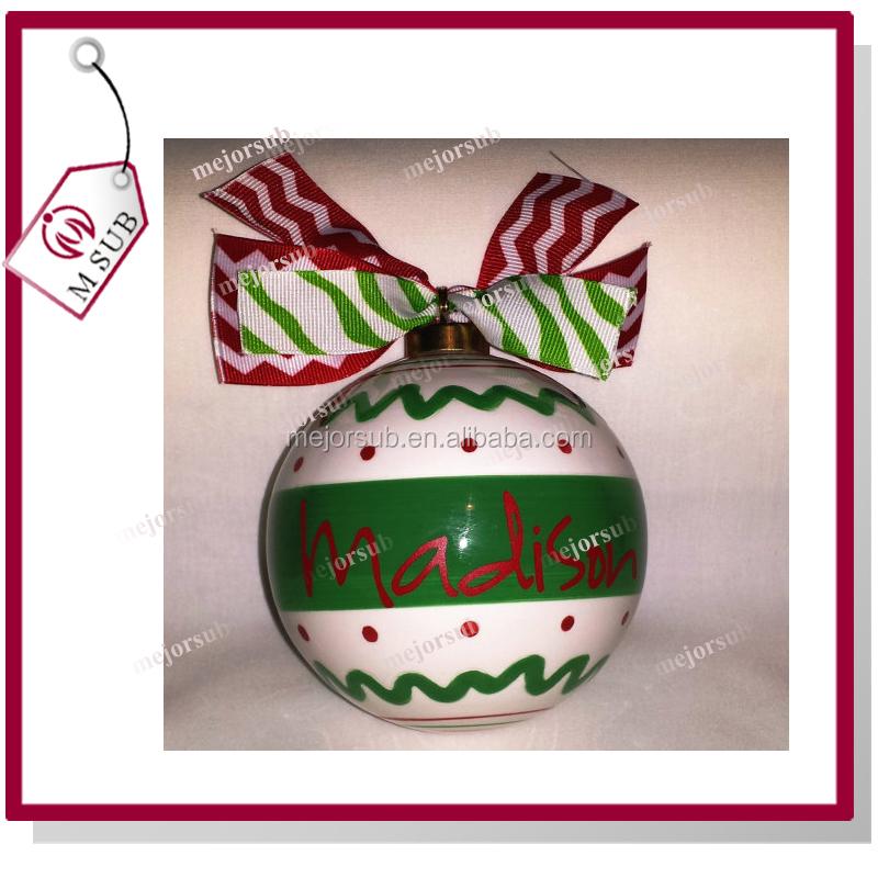 Personalized Christmas Balls.Hot Sale Hanging Decoration Personalized 70mm Sublimation Plain Ceramic Christmas Balls Buy Plain Ceramic Christmas Balls Round Ceramic