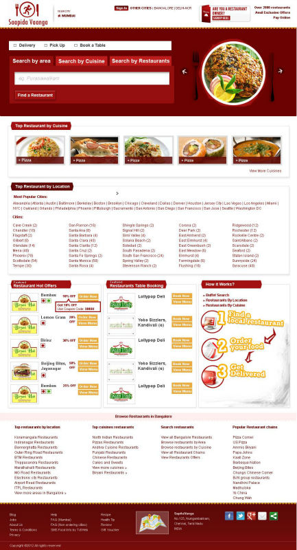 Online Food Ordering Software (Just Eat, Grubhub, Delivery Hero, Eat24hours, Savored & Seamless Clone))