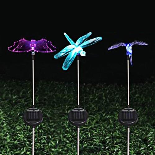 a unids bird liblula mariposa patrn led lmparas solares de jardn ruta paisaje al aire