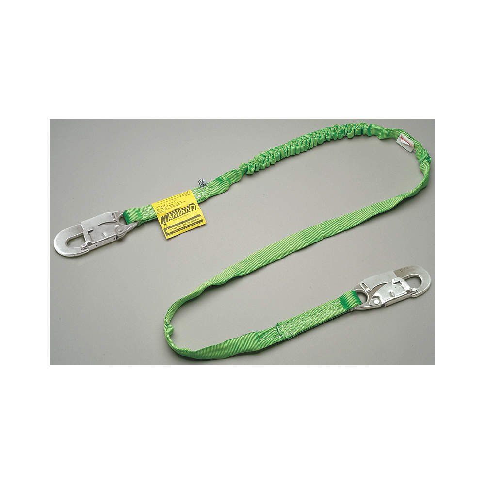 "Honeywell 216TWLSZ76FTGN Miller by 216TWLS/Z76FG 6' Manyard HP Polyester Web Single-Leg Shock-Absorbing Green Lanyard With (2) 3/4'' Locking Snap Hooks, English, 15.34 fl. oz., Plastic, 1"" x 72"" x 1"""