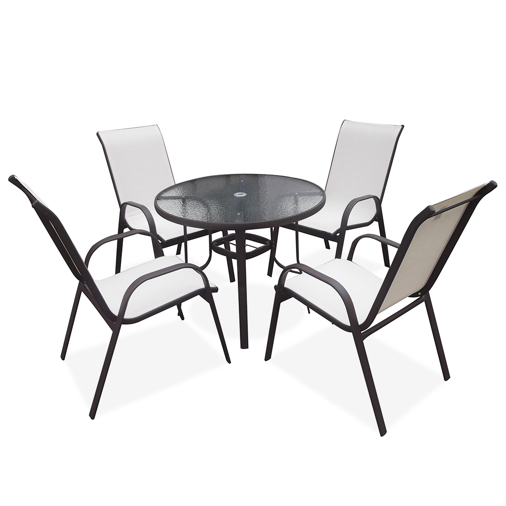 2020 Outdoor Cheap Wholesale Modern Leisure Metal Steel Stackable Terrace Hotel Dining Patio Garden Furniture