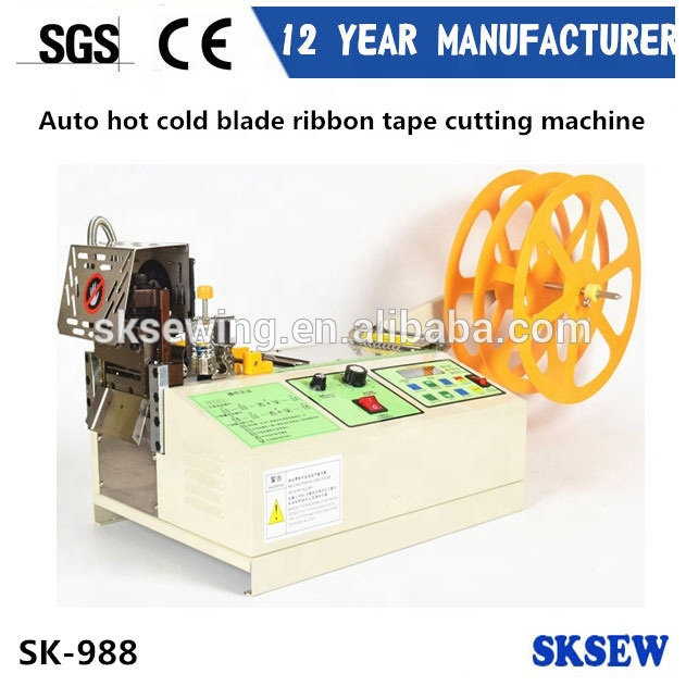 45 oblique angle hot knife blade Webbing Fabric ribbon Cutting Machine