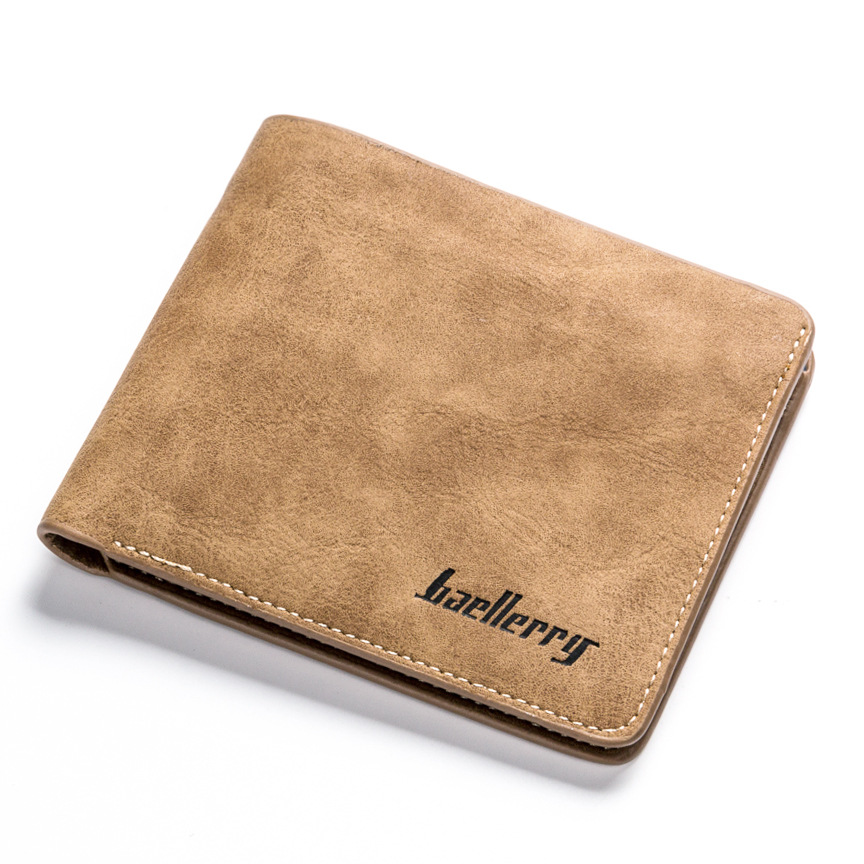 Wholesale Baellerry men's cheap minimalist classical pu leather school <strong>wallet</strong>
