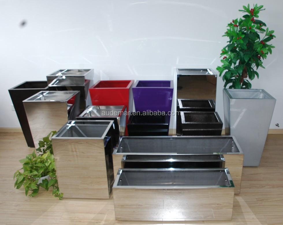 Ningbo Audemar Decorating Aluminum Planter In Powder Coating/Indoor Large Decorative  Planters/Indoor Decorative