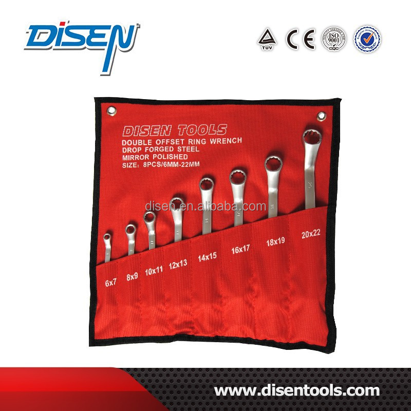 6-22 mt Doppel Offset Ring Wrench Set