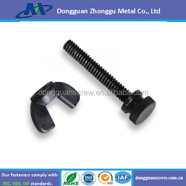 High quality black plastic nylon screw and nut / wing nut
