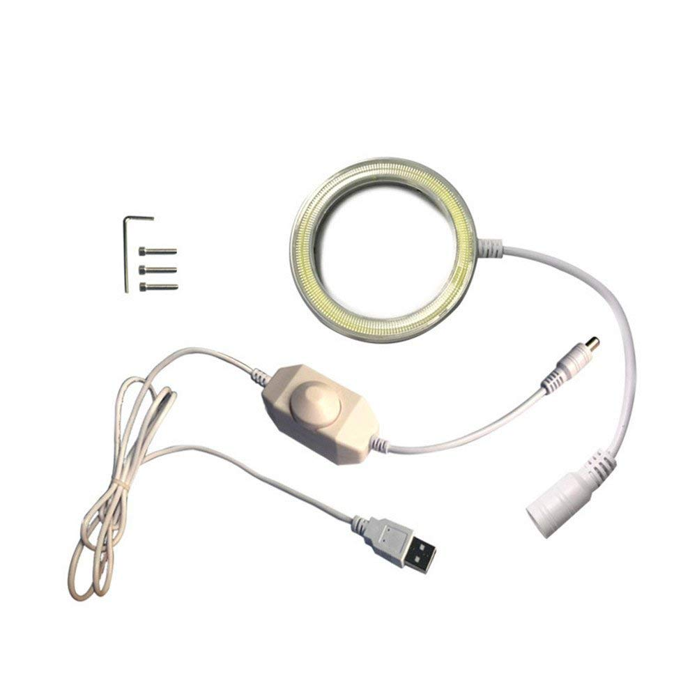 VIPFIX Original 60 LED 5V USB Power Circle Light Adjustable Ring Light Illuminator Lamp for Stereo Microscope